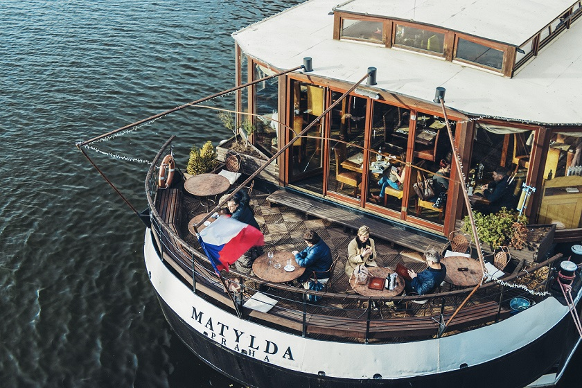 Cafe on a boat