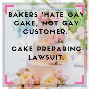 Gay cake sues bakery