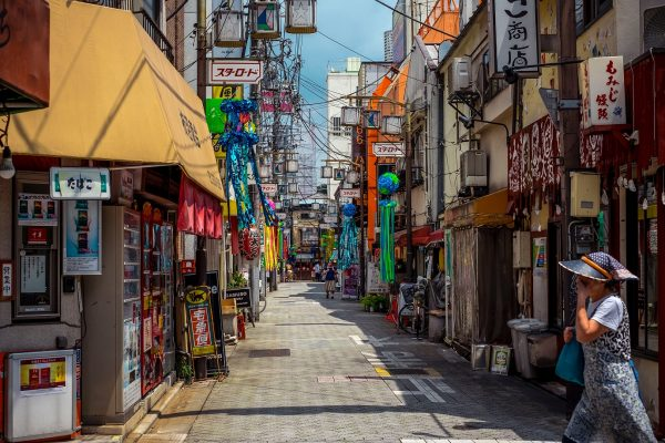 Colourful Asian street