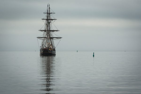 sailing ship on calm waters